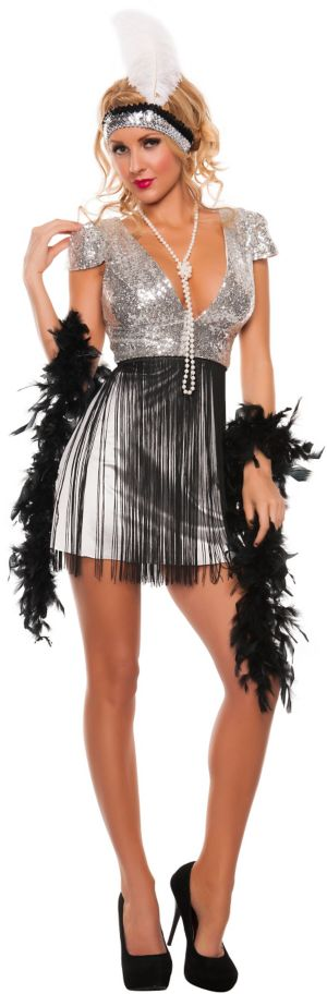 Sexy Adult Jazzy Flapper Costume