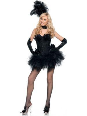 Deluxe Adult Sexy Black Swan Costume