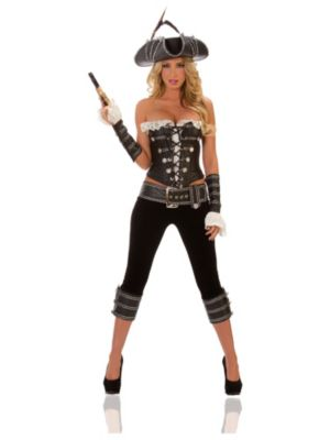 Deluxe Adult Sexy Rogue Pirate with Pants Costume