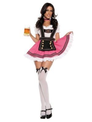 Adult Sexy Fancy Beer Girl Costume