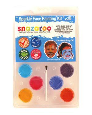6 Color Sparkle Face Paint Clam Pack