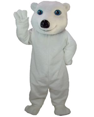 Adult White Bear Mascot Costume