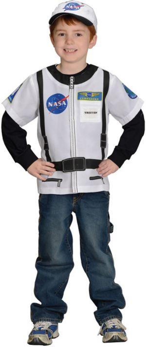 Child My 1st Career Gear Astronaut Dress-up Shirt Costume