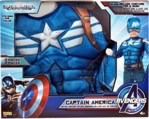 Captain America Muscle Chest Dress Up Set