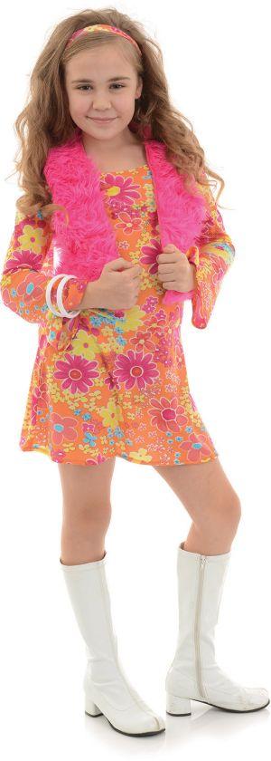FLOWER POWER GIRLS COSTUME