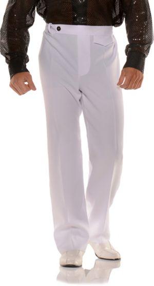 Adult White Disco Pants Costume