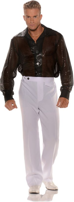 Adult Black Sequin Shirt Costume