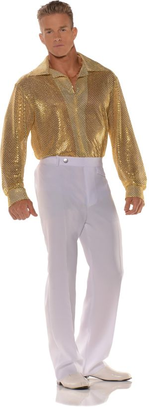 Adult Gold Sequin Shirt Costume