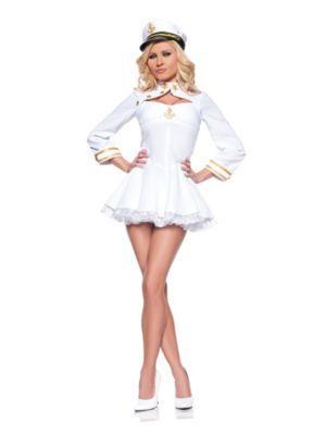 Adult Sexy Elegant Navy Admiral Costume