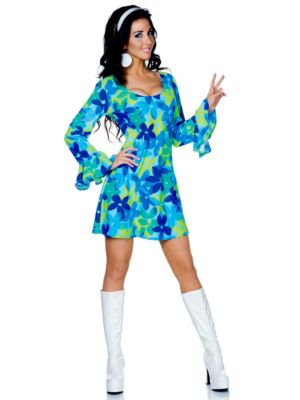 Adult Sexy Wild Flower Child Hippie Costume