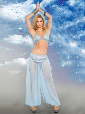 Adult Sexy Light Blue Heavenly Genie Costume
