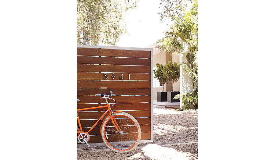 Neutra House Numbers in Aluminum
