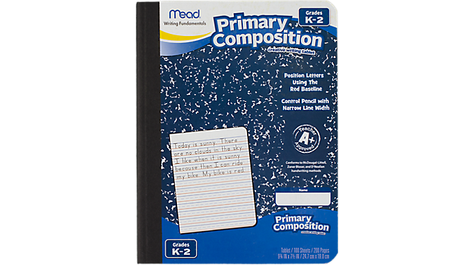 Mead® Primary Composition Book Grades K-2 (09902) - Early Learning