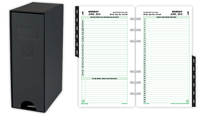Day-Timer® 2016 2-Page-Per-Day Reference Planner Refill with Storage Portable Size (10808 16) - July Start Refills