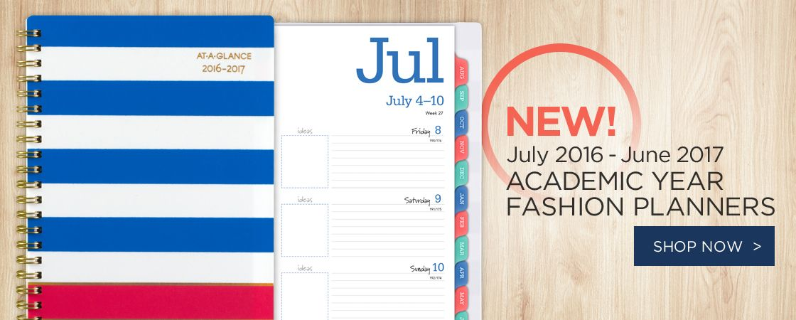 NEW! Academic Year Fashion Planners