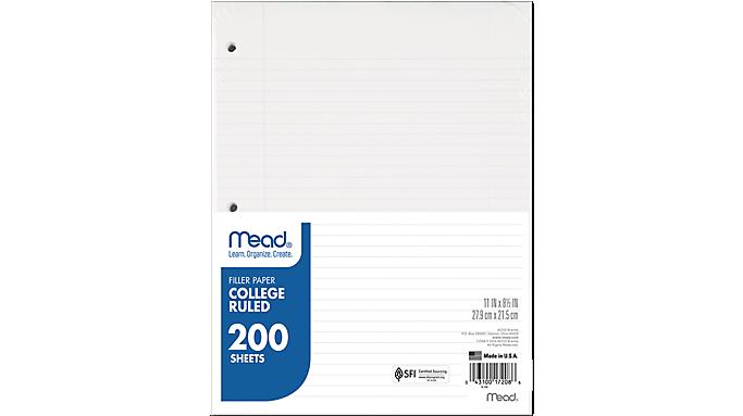 Mead® Filler Paper (17208) - Paper
