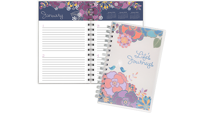 Mead® Lifes Journeys Desk Undated Weekly Planner (2205-12001) - Weekly - Monthly Planners