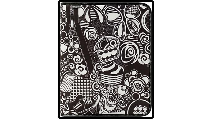 Mead® Doodle 1 1/2 Zipper Binder (28050) - Zipper Binders