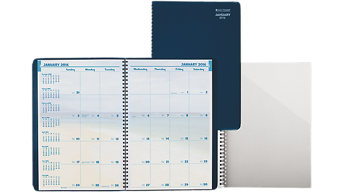 Offer Day-Timer 2016 Coastlines Monthly Wire Bound Planner Notebook Size (32286 16) – Monthly Planners Before Special Offer Ends