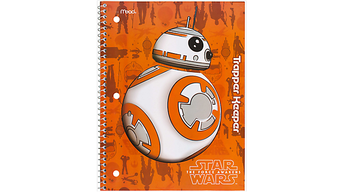 Trapper Keeper Star Wars Wide Ruled Notebook - 1 Subject (07052) - Trapper Keeper