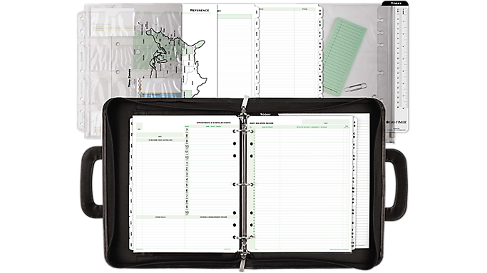 Day-Timer® Avalon Simulated Leather Starter Set, Folio Size (43701) - Planner Sets