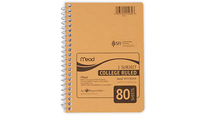 Mead® Spiral® Personal Notebook (45482) - Mead Notebooks