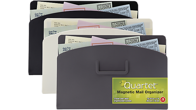 Quartet® Magnetic Mail Organizer Storage Pouch (48123-WM) - Dry-Erase Accessories