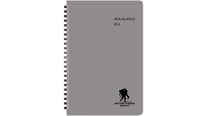 At-A-Glance® 2016 Wounded Warrior Project® Weekly/Monthly Planner (70100W 16) - Weekly - Monthly Planners