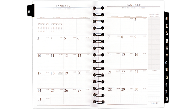 At-A-Glance® 2016 Executive® Weekly-Monthly Refill for 70-NL45, 70-N345 and 70-345-05 (70910 16) - Weekly - Monthly Appointment Books