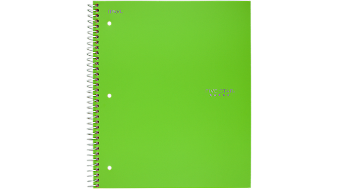 Five Star® Trend Wirebound Wide Ruled Notebook - 1 Subject (05238) - Five Star Notebooks