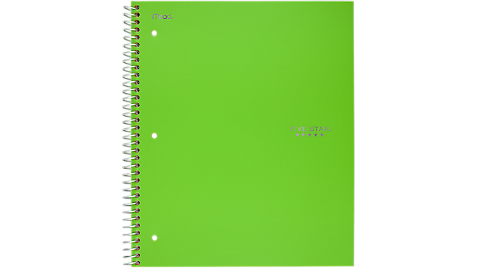 Five Star® Trend Wirebound College Ruled Notebook - 1 Subject (06044) - Five Star Notebooks