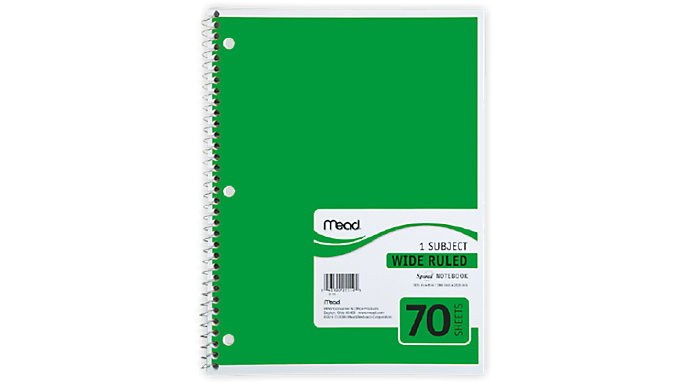 Mead® Spiral® Notebook 1 Subject (05510) - Mead Notebooks