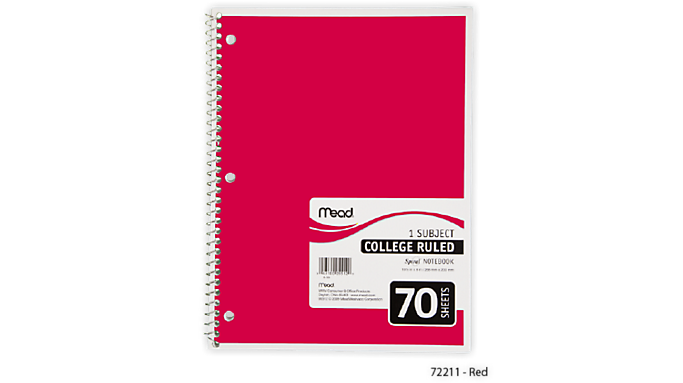 Mead® Spiral® Notebook 1 Subject (05512) - Mead Notebooks
