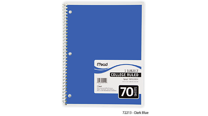 Cheap Offer Mead Spiral Notebook 1 Subject (05512) – Mead Notebooks Before Special Offer Ends