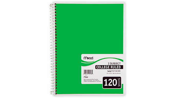 Mead® Spiral® Notebook 3 Subject (05748) - Mead Notebooks