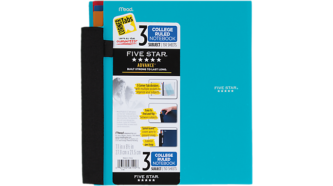 Special Offer Five Star Advance 3 Subject Notebook (08190) – Five Star Notebooks Before Special Offer Ends