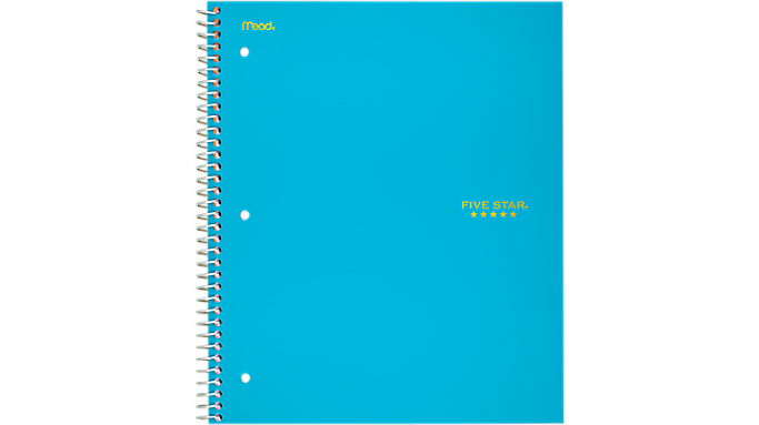 Five Star® Trend Wirebound Wide Ruled Notebook - 3 Subject (05244) - Five Star Notebooks