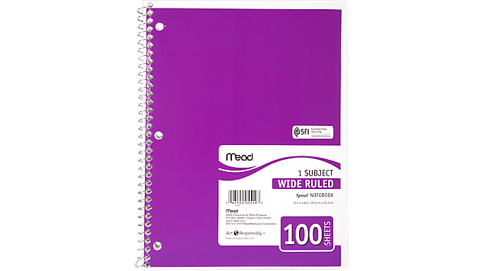 Mead® Spiral® Notebook (05514) - Mead Notebooks