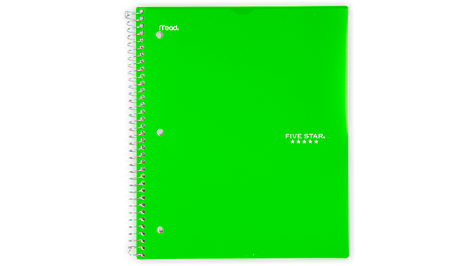 Five Star® Customizable College Ruled 1 Subject Notebook (08230) - Five Star Notebooks