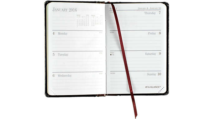 At-A-Glance® 2016 Fine Diary® Weekly-Monthly Pocket Planner (7401 16) - Weekly - Monthly Planners