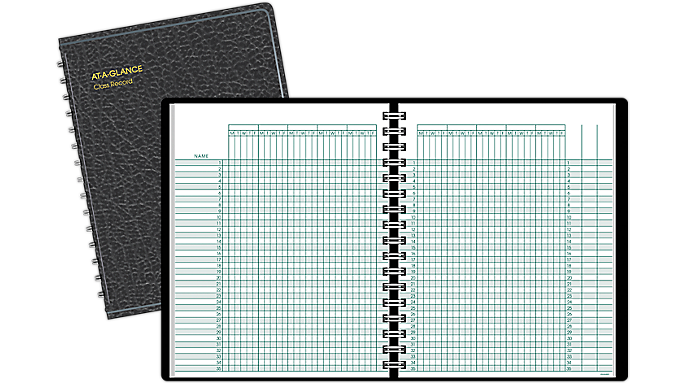 At-A-Glance® Class Record Book (80150) - Teacher Planners
