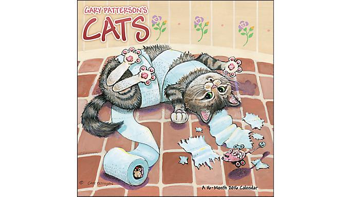 Day Dream® 2016 Gary Patterson's Cats Wall Calendar (DDD550 16) - Decorative Calendars DDD5502816