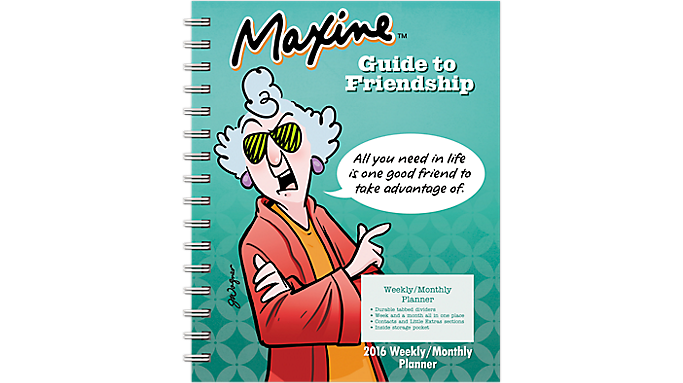 Day Dream® 2016 Maxine™ Weekly/Monthly Planner (DDEN05 16) - Weekly - Monthly Planners
