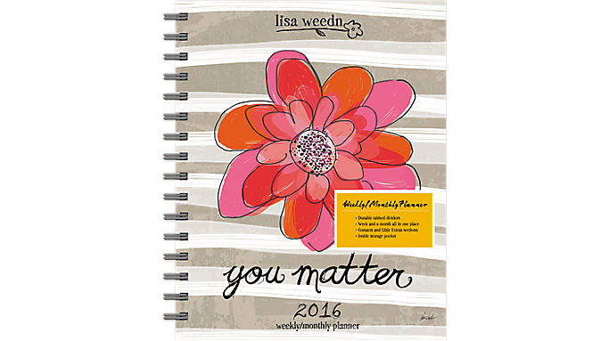 Day Dream® 2016 Lisa Weedn Weekly/Monthly Planner (DDEN17 16) - Weekly - Monthly Planners
