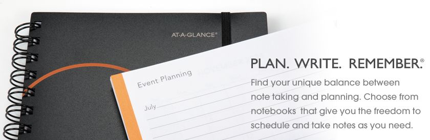 AT-A-GLANCE® PLAN. WRITE. REMEMBER.®