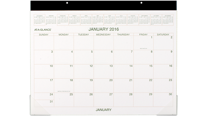 At-A-Glance® 2016 Recycled Desk Pad (GG2500 16) - Desk Pads GG25000016