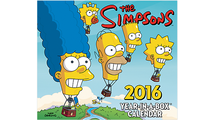 Mead® 2016 The Simpsons & trade Year-In-A-Box® Calendar (LMB245 16) - Year-In-A-Box