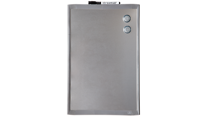 Quartet® Magnetic Dry-Erase Board w/ Stainless Steel Finish, 11 x 17 (MHOS1117) - Dry-Erase Boards