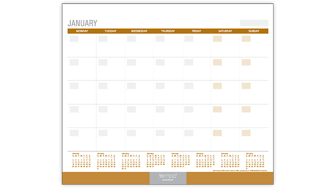 Mead® Essence Monthly Desk Pad (SK29-290) - Desk Pads