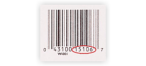 on the bar code